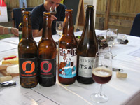 Some of the beers at the Innspire tasting